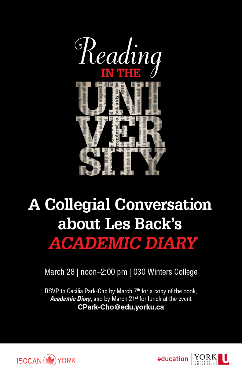 Reading in the University event flyer